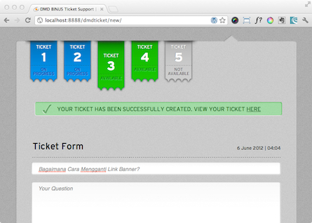 DMD Ticket - Ticket Published