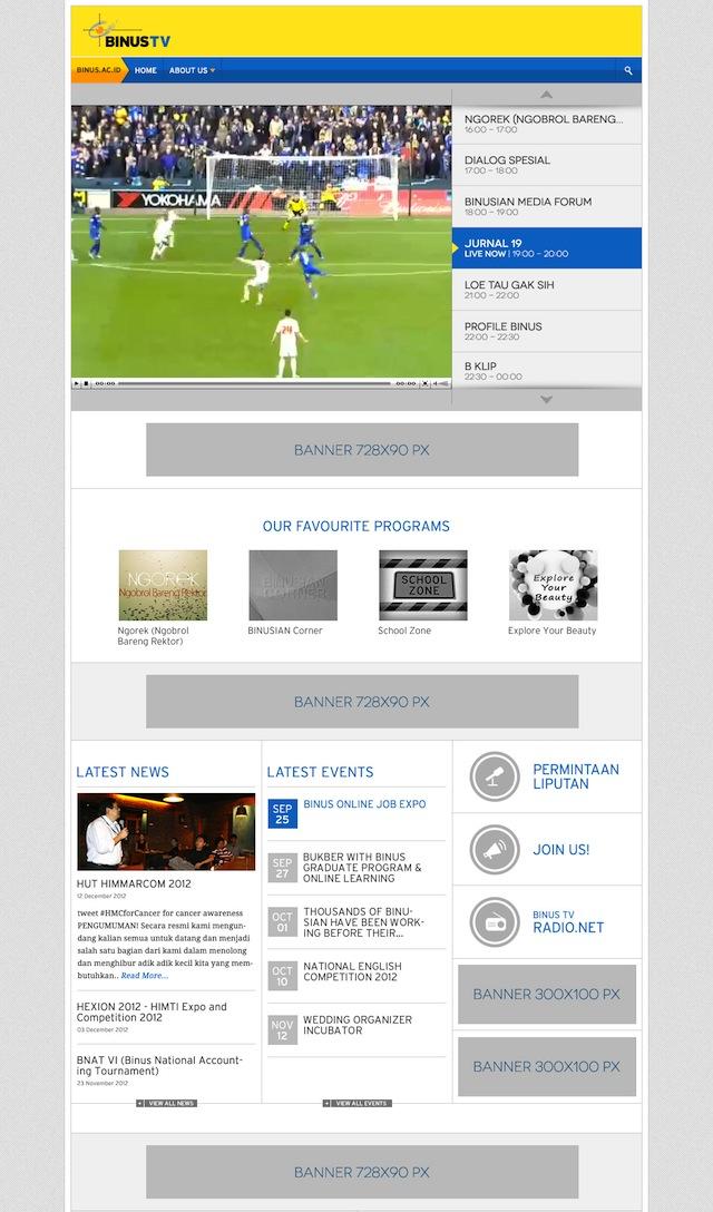 Desain Awal New BINUS.tv