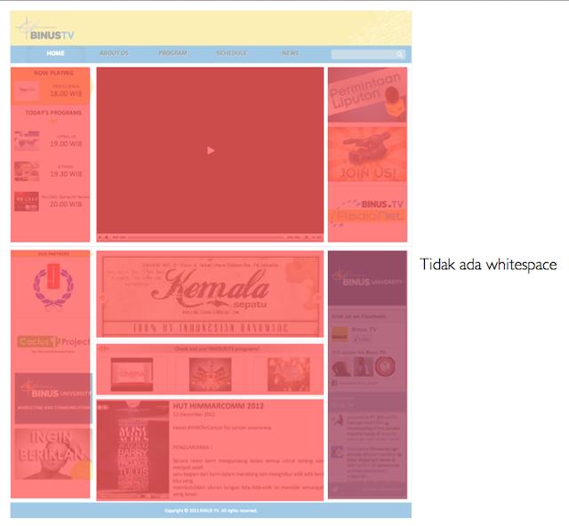 Kajian Visual BINUS.tv - tidak ada whitespace