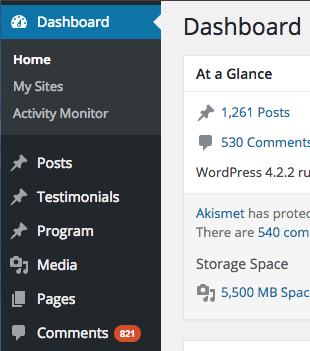 wp-default-dashboard